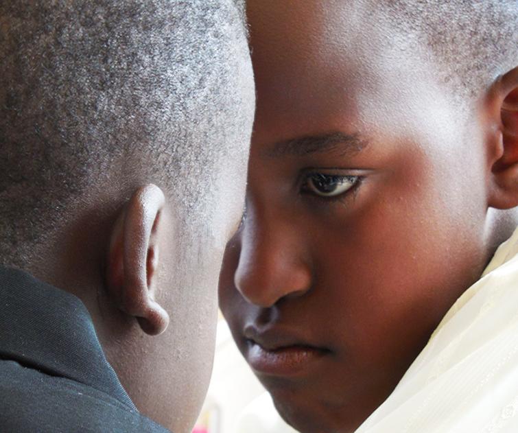 African children looking