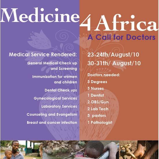 medicine 4 africa flyer