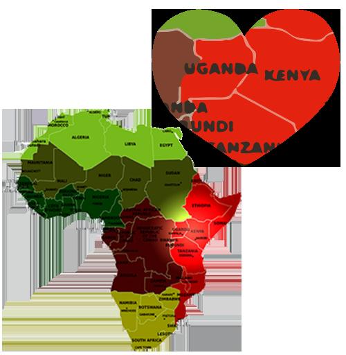 kenya uganda map