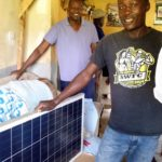 Samson with new solar panel to be installed