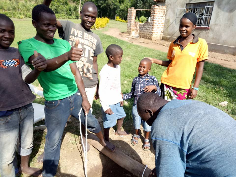 drilling water well in Kenya Africa