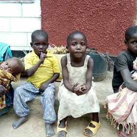 Orphan children in Africa