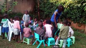 chairs donated to children in Africa