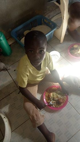 Christmas Dinner in Maliki Village Kenya provided by H2HIntl