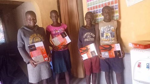 School books donated to children in Kenya Africa